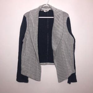 LOFT Outlet | Lounge Blue and Grey Cardigan